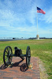 Canon Fort Sumter. CHARLESTON SC 06 25 2016: Canon Fort Sumter is a sea fort in Charleston notable for 2 battles of the American Civil War. was one of a number stock photography