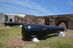 Canon Fort Sumter. CHARLESTON SC 06 25 2016: Canon Fort Sumter is a sea fort in Charleston notable for 2 battles of the American Civil War. was one of a number Royalty Free Stock Photography