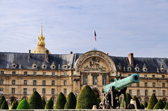 Canon in front of Hotel des Invalides stock image
