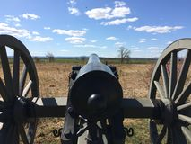 Canon at Gettysburg Civil War. Looking down the barrel of a canon at Gettysburg Pennsylvania Civil war museum and battlefield historical area Stock Photography