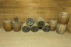 Canon Gunpowder Barrels Fort Barrancas Stock Images