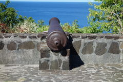A canon at hamilton fort on the island of bequia Stock Images