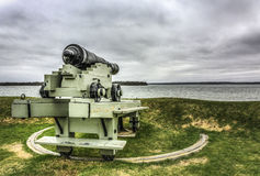 Canon. Historic canon in Saint Andrews NB Royalty Free Stock Images