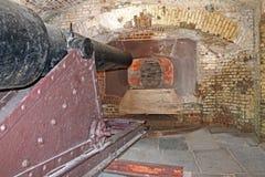 Canon i fortet Sumter Royaltyfri Bild