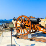 Canon Inside old fortress, Corfu Stock Images