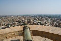 Canon at jaisalmer fort Royalty Free Stock Photos