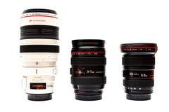 Canon L lentes da série Fotografia de Stock Royalty Free