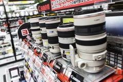 Canon-Lens Royalty-vrije Stock Afbeeldingen
