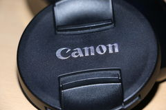 Canon-lensdekking voor fotografie en videoopname stock afbeeldingen