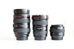 Canon lenses for dslr Royalty Free Stock Photos
