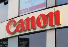 Canon logo Arkivbild