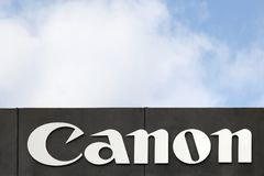Canon logo on a facade Stock Photo
