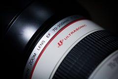 Canon 70-200m m EF f/2 8L USM imagen de archivo