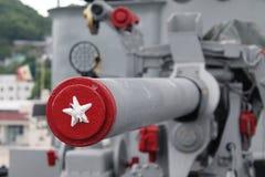 Canon militare fotografie stock