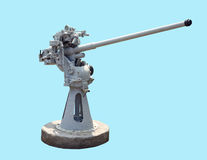 Canon naval soviétique de 45mm Photo libre de droits
