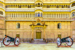Canon in old fort in Bikaner Stock Image