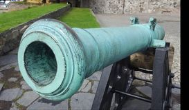 Canon. Old Norwegian Canon at fort in Kristiansand Royalty Free Stock Photo