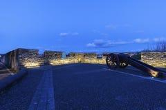 Canon op de muren van Derry Stock Foto