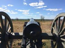 Canon på den Gettysburg inbördeskriget Arkivbild