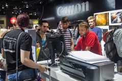 Canon in Photokina 2016 Royalty-vrije Stock Foto's