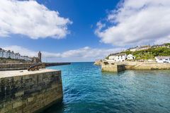 Canon in Porthlevan historic port entrance Stock Photography