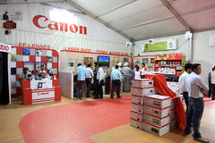 Canon products exhibition Royalty Free Stock Photos