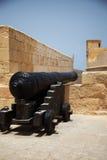 Canon przy cittadella w Wiktoria Gozo Zdjęcia Royalty Free