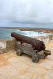 Canon and Rocky Algarve, Portugal coastline Royalty Free Stock Photography