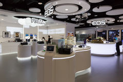Canon Showroom in Hong Kong Stock Photo