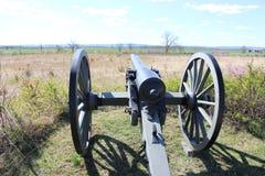 Canon som förbiser inbördeskrigslagfältet Gettysburg Royaltyfri Bild