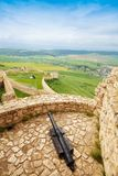 Canon on Spis castle tower Stock Photography