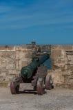 Canon in Sqala du Port Northern Scala, ein defensiver Turm an Stockfotos
