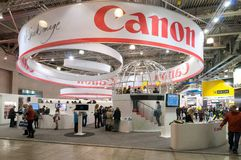 Canon stand at Photo Expo Royalty Free Stock Photography