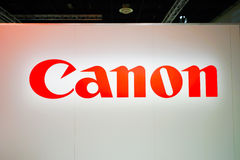 Canon stand in the Photokina Exhibition Stock Photo