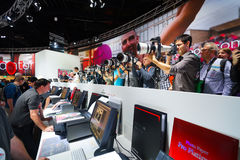 Canon stand in the Photokina Exhibition Stock Images