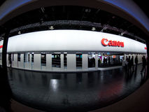 Canon stand at photokina fair Royalty Free Stock Image