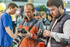 Canon-Stand während CEE 2017 in Kiew, Ukraine Stockfotos