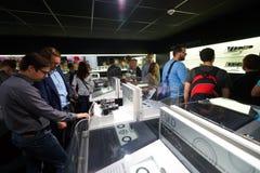 Canon stehen in der Photokina-Ausstellung Stockbild