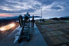 Canon sur la crête de Shipka Image libre de droits