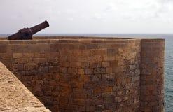 Canon sur une fortification Photos libres de droits