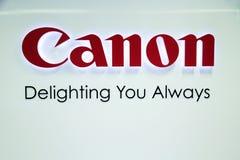 Canon tecken Royaltyfri Bild