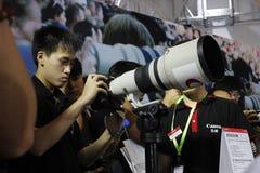 Canon telephoto lens Stock Photos
