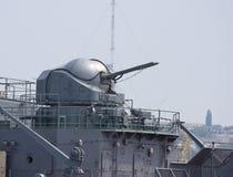 Canone russo della nave di battaglia Fotografia Stock Libera da Diritti
