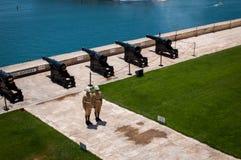 Canones de Malta Fotografía de archivo libre de regalías