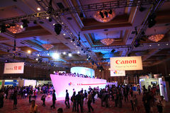 canonexpo 2011 royaltyfria bilder