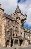 Canongate Toll Booth Clock, Royal Mile, Edinburgh, Scotland Stock Photo