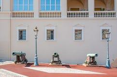 Canoni di principe Palace nel Monaco Fotografia Stock