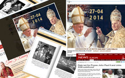 CANONIZATION OF BLESSEDS JOHN XXIII AND JOHN PAUL II Royalty Free Stock Image
