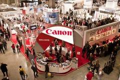 canonphotoshowstand Fotografering för Bildbyråer