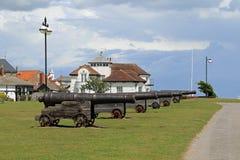 Canons à la colline d'arme à feu Images stock
